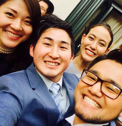 自身の結婚式で中学部の友人たちと再会